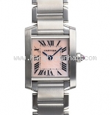 Đồng hồ Cartier nữ mặt sò hồng tank W51028