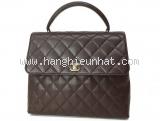 Túi xách Chanel kelly business màu đen nâu