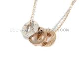 S Vòng cổ Cartier K18PG/WG kim cương