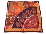 Khăn Hermes Geometry cretoise đỏ cam