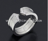 Nhẫn Cartier K18WG kim cương size 47