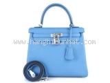 S Túi xách Hermes kelly 25 màu xanh blue