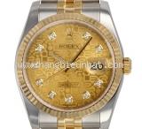 Đồng hồ Rolex datejust 116233G K18YG kim cương