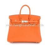 S Túi xách Hermes birkin 25 màu da cam