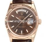 Đồng hồ Rolex day - date dây da 118135