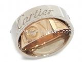 Nhẫn Cartier love ring vàng K18WG/PG size 48