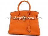 Túi xách Hermes birkin 30 màu cam khóa vàng