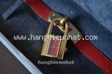 MS3702 Đồng hồ Hermes kelly dây da đỏ
