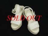 Sandal Hermes màu trắng size 37