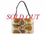 Túi xách Gucci da trăn màu be nâu 277522