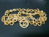 S Thắt lưng Chanel xích vàng