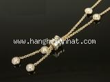 S Vòng cổ Bvlgari B-zero1 K18YG kim cương
