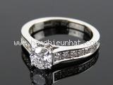 S Nhẫn Cartier Pt950 kim cương 0.50ct size 46