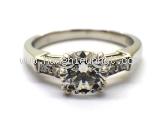 S Nhẫn kim cương Harry Winston Pt950 size 6