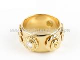 S Nhẫn Chanel K18YG kim cương size 7