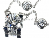 S Vòng cổ Cartier K18WG kim cương