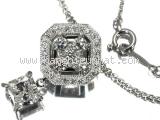 S Vòng cổ Mikimoto K18WG kim cương