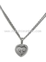 Vòng cổ Chopard happy diamond trái tim
