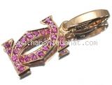 Mặt dây chuyền Cartier K18PG đá saphire hồng