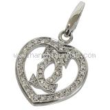Mặt dây chuyền Cartier 750WG kim cương
