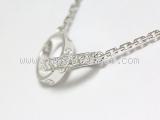 Vòng cổ Cartier baby love kim cương