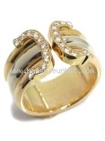 SA Nhẫn Cartier C 2 kim cương size 49