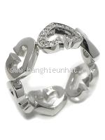 SA Nhẫn Cartier K18WG kim cương size 51