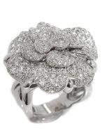 SA Nhẫn Chanel K18WG kim cương size 13