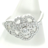 Nhẫn Chanel J3600 K18WG kim cương size 49