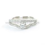 Nhẫn Chanel J8877 K18WG kim cương size 49