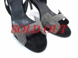 Sandal Hermes màu đen bạc size 36 1/2