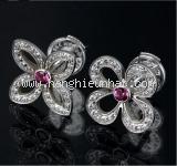 Bông tai Louis Vuitton Pave kim cương saphire