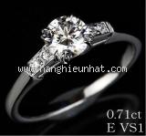 Nhẫn HARRY WINSTON Pt950 kim cương size 13
