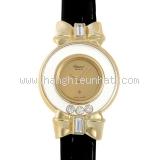 Đồng hồ Chopard K18YG kim cương dây da