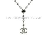 Vòng cổ Chanel logo A15C màu xám