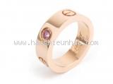 Nhẫn Cartier love ring bản to 1P saphia hồng