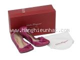 MS5228 Giày bệt nơ hồng Ferragamo size 7 1/2