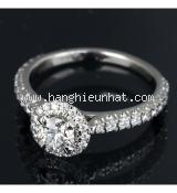 Nhẫn kim cương cartier 0.42ct