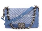 S Túi xách Chanel boy màu xanh A67087