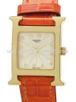 Đồng hồ Hermes dây da cam HH1.285