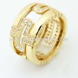 Nhẫn Bvlgari 750YG kim cương size 52