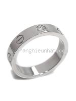 Nhẫn Cartier mini love ring 1P vàng trắng size 48
