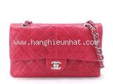 SA Túi xách Chanel màu đỏ da kỳ đà
