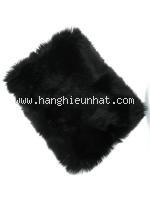 Khăn choàng cổ Loewe lông cáo màu đen