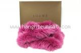 Khăn choàng cổ Loewe lông cáo màu hồng