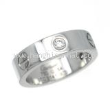 SA Nhẫn Cartier K18WG kim cương 0.22ct size 54