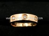 Nhẫn Cartier love ring  K18PG kim cương size 48