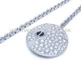 Mặt dây chuyền Cartier LOVE 750WG kim cương