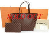 NEW Túi Louis Vuitton Neverfull damier N41358