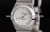 SA Đồng hồ Omega Constellation nữ viền kim cương 123.15
